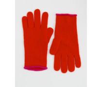 Kaschmir-Handschuhe Rot Damen Boden