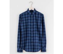 Flanellhemd Blau Herren