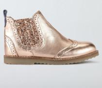 Chelsea-Stiefel aus Leder Rotgold Mädchen