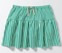 Gestreifter Jersey-Skort Grün Mädchen