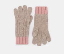 Handschuhe aus Zopfstrick Natural Damen