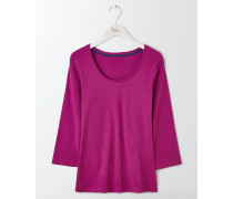 Unverzichtbarer Pullover mit U-Ausschnitt Purple Damen
