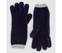 Handschuhe in Blockfarben Navy Damen Boden
