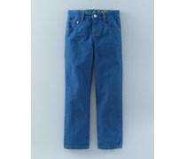 Farbige schmale Jeans Blau Jungen Boden