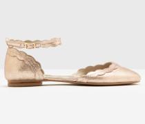 Flache Elsie Schuhe Gold Damen