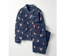Gewebtes Pyjamaset Navy Mädchen Boden