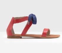 Sandalen mit Bogenmuster Rot Damen
