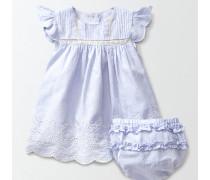 Sommerliches Kleid mit Lochstickerei Blau Baby Boden