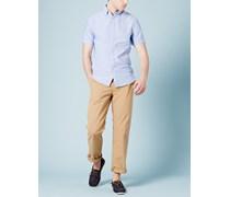 Oxfordhemd mit kurzen Ärmeln Blau Herren