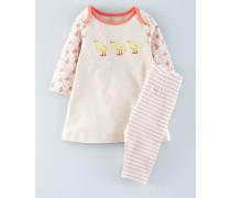Set aus Kleid mit Applikation & Leggings Beige Baby Boden