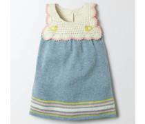 Strickkleid mit Häkeldetail Blau Baby Boden