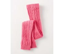 Leggings mit Zopfstrickmuster Pink Baby Boden