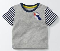 Shirt mit witziger Tasche Grau Baby