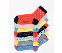 Socken im 7er-Pack Gepunktet Damen Boden