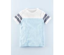 Sportliches T-Shirt mit Streifen Hellblau Jungen