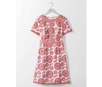 Mila Kleid mit Lochstickerei Red Damen