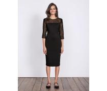 Isabella Kleid aus Ponte-Roma-Jersey Schwarz Damen