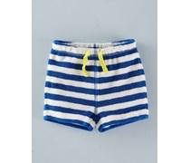 Frottee-Shorts für Jungen Blau Baby Boden