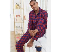 Pyjamaset aus gebürsteter Baumwolle Red Herren