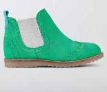 Chelsea-Stiefel aus Leder Grün Mädchen
