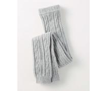 Leggings mit Zopfstrickmuster Grau