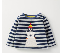 Shirt mit großer Applikation Blau Baby Boden