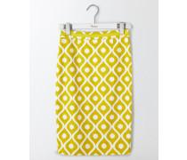 Modischer Bleistiftrock Gelb Damen