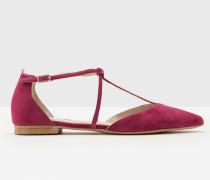 Flache Jennifer Schuhe mit T-Steg Purple Damen