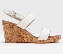 Louisa Schuhe mit Keilabsatz Elfenbeinfarben Damen