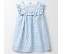 Besticktes Rüschenkleid Blau Baby Boden