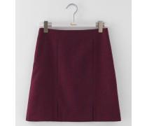 Minirock aus britischem Tweed Rot Damen