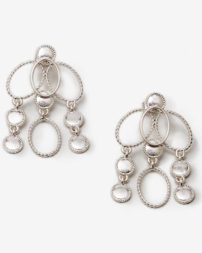 Ovale Ohrringe Silver Damen
