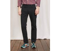 Twill-Jeans mit geradem Bein Schwarz Herren