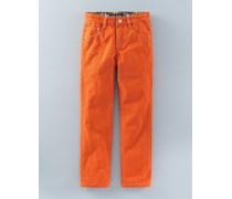 Farbige schmale Jeans Orange Jungen Boden