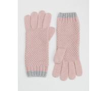 Handschuhe in Blockfarben Pink Damen Boden
