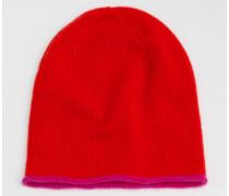 Kaschmirmütze Rot Damen Boden