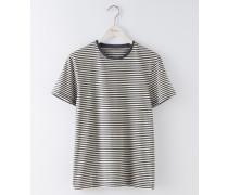 Vorgewaschenes T-Shirt mit Streifen Dunkelgrau Herren Boden