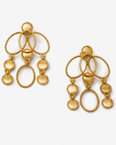 Ovale Ohrringe Gold Damen