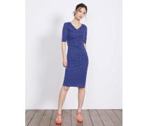 Rita Jerseykleid mit Raffung Blue Damen