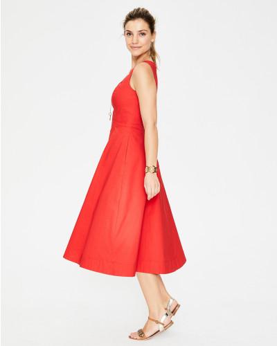 Elena Kleid Red Damen