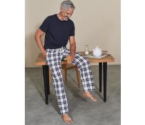 Pyjamahose aus Baumwollpopeline Ivory Herren