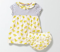 Jerseykleid mit Mustermix Gelb