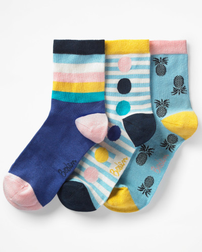 Socken im 3er-Pack Blue Damen