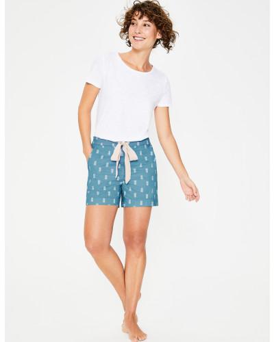 Suzie Pyjamashorts Blue Damen