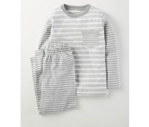 Pyjamaset mit Mustermix Grau Jungen