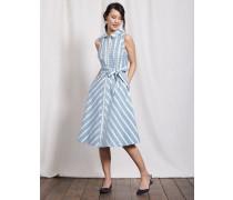 Clemmie Hemdblusenkleid Blau Damen