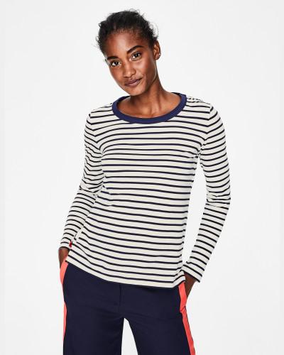 Bretonshirt mit Rundhalsausschnitt Navy Damen