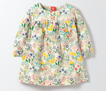 Jerseykleid mit Wiesenmotiv Bunt