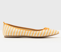 Flache Poppy Schuhe mit spitzer Zehenpartie Yellow Damen