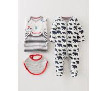 4-teiliges Geschenkset für Neugeborene Dunkelblau Baby Boden